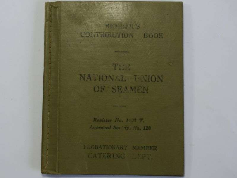 24) Early WW2 National Union of Seamen Members Contribution Book 1938-40