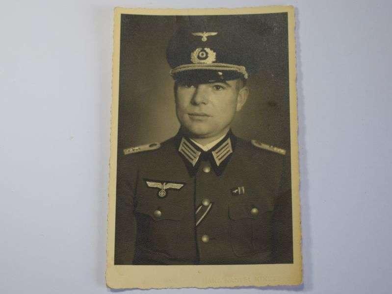 167) Excellent Original 1930s-WW2 Portrait Photograph of German Army Officer
