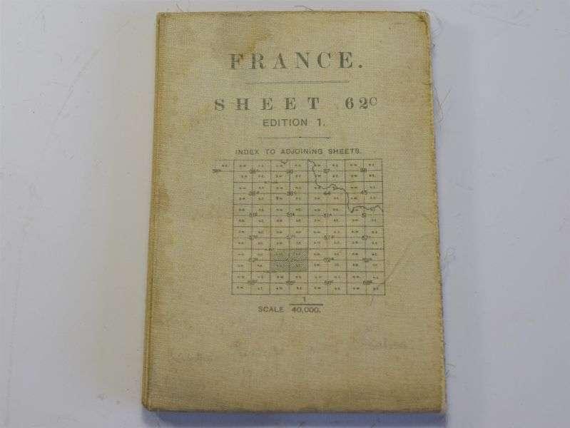 28) WW1 British Map of France Villers-Faucon, Mont St Quentin, Tincourt etc 1917