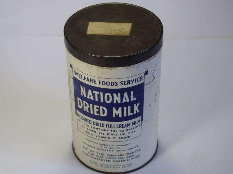 178) WW2-1960s Empty Welfare Foods Service National Dried Milk Tin