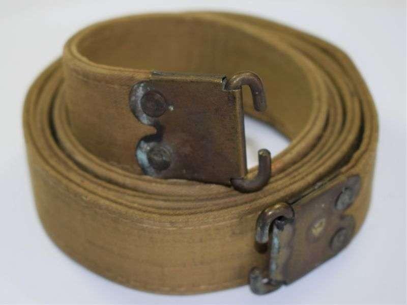 47) Good original WW2 British Home Guard Rubberised Economy Rifle Sling 1941