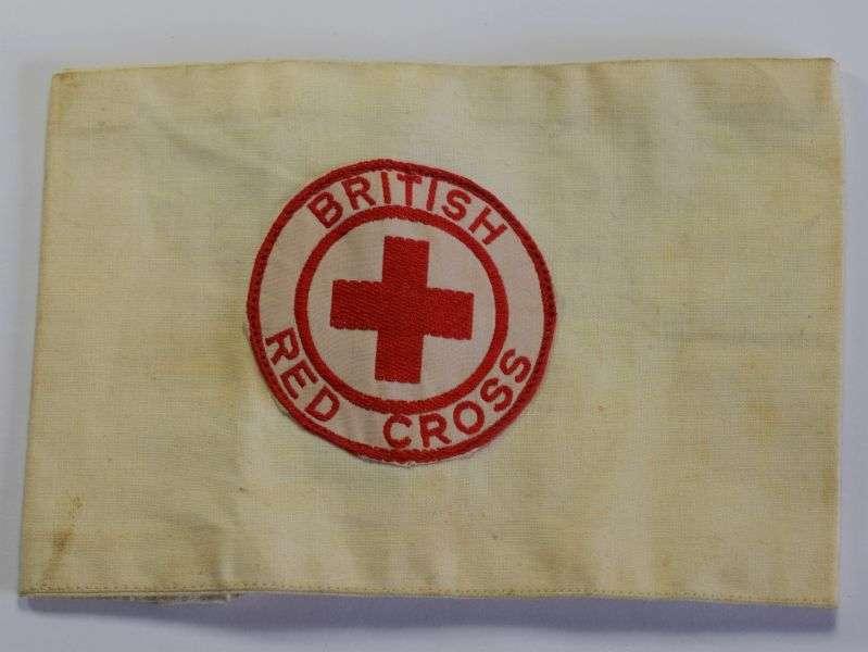 56) Excellent Original WW2 British Red Cross Cotton Armband