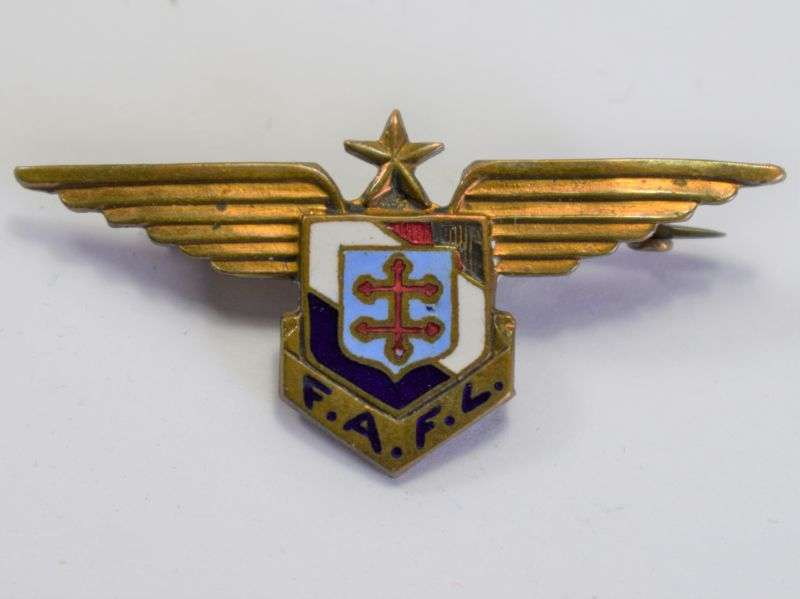 60) Original Small Size WW2 Free French Air Force Pin Badge