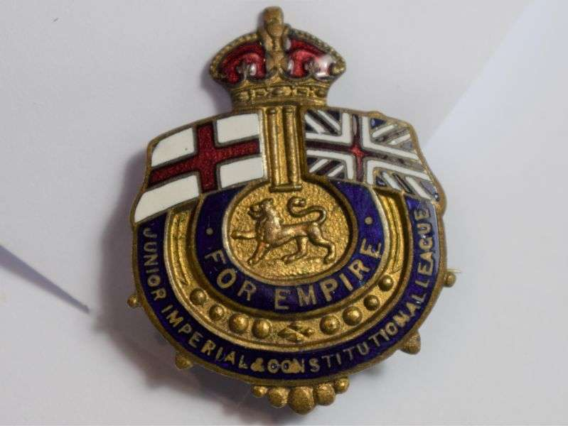 66) Early For Empire Enamel Pin Badge Junior Imperial & Constitutional League