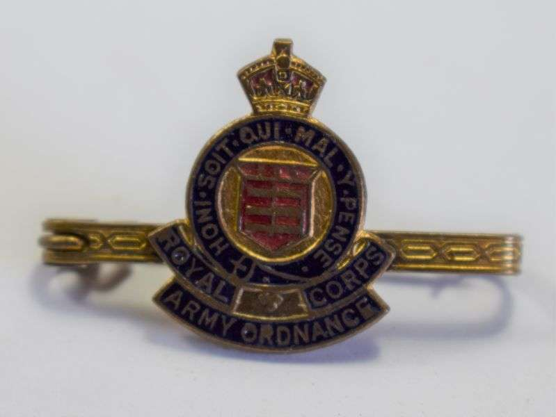 96) Excellent WW2 Royal Army Ordnance Corps Sweetheart Brooch