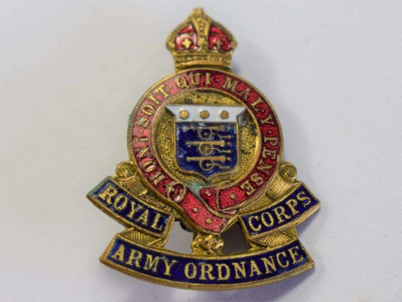 97) Excellent WW2 Royal Army Ordnance Corps Sweetheart Brooch