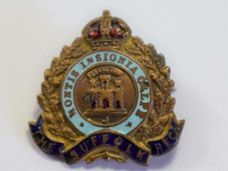 98) WW1 WW2 Suffolk Regiment Sweetheart Brooch