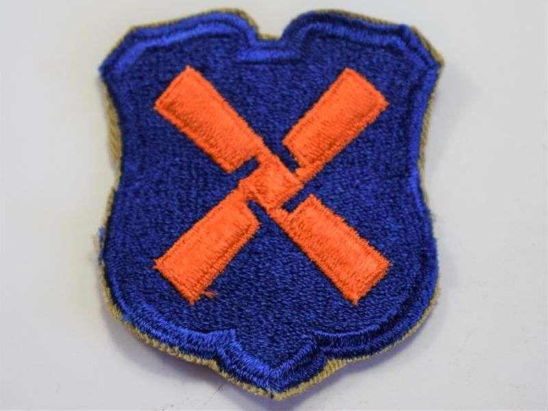 103) Original Used WW2 US Army 12th Army Corps Cloth Badge