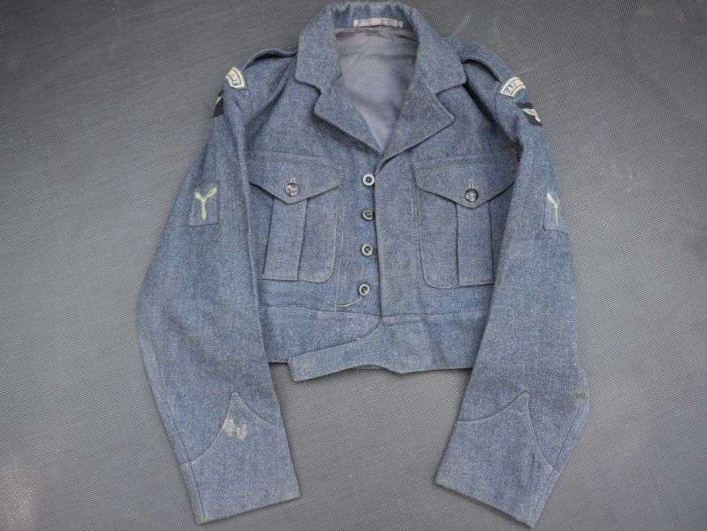 121) Good Post WW2 RAF War Service Dress Blouse 1951