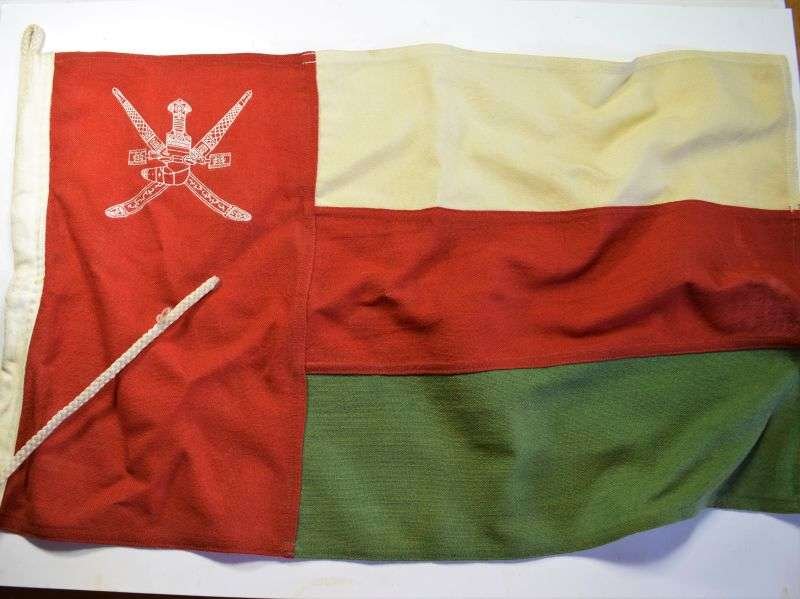 125) Vintage Original Small Flag of Oman