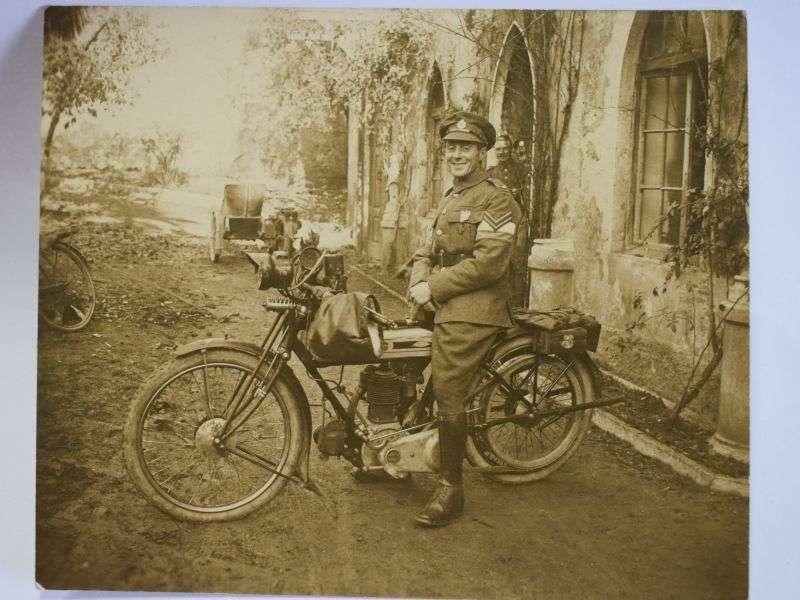 137) Original WW1 Photo Corporal E.H.Male Royal Engineers Dispatch Rider
