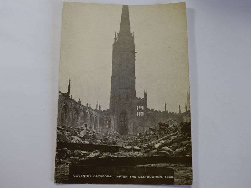 140) Interesting picture Coventry Cathedral After the Destruction 1940
