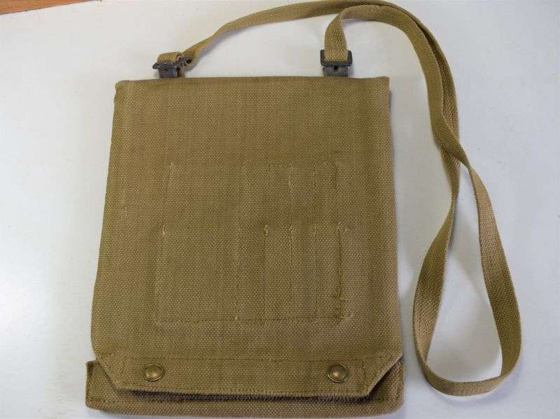 48) WW2 British Army Issue Map Case Dated 1944