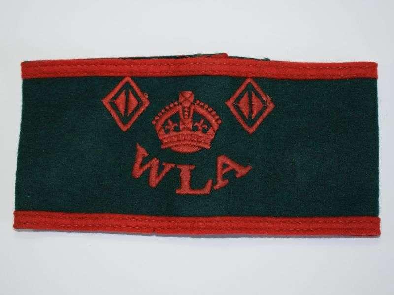 53) Good Original WW2 Woman's Land Army 2 Year Service Armband