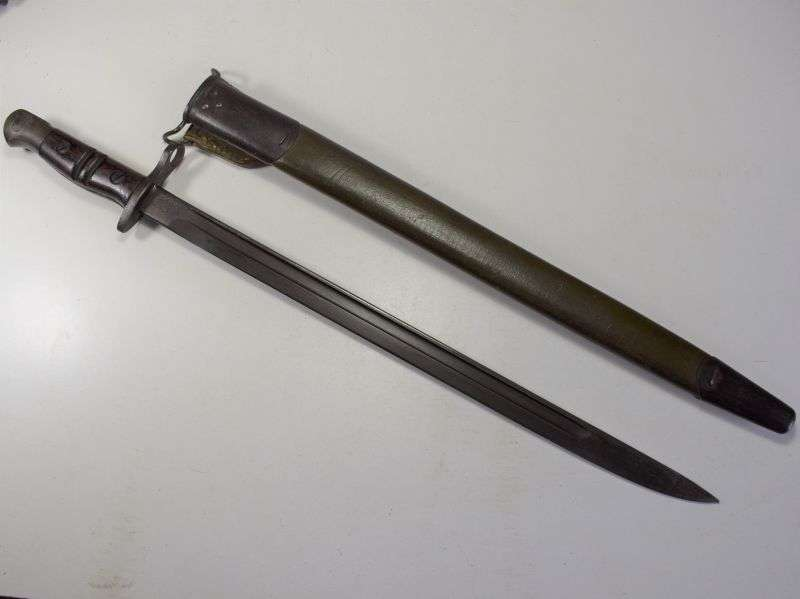 67) Excellent 1st Pattern WW1 US Army M17 Bayonet & Scabbard