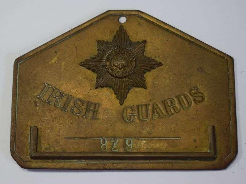 78) Early Pre WW1 Irish Guards Bed Plate Service no 829