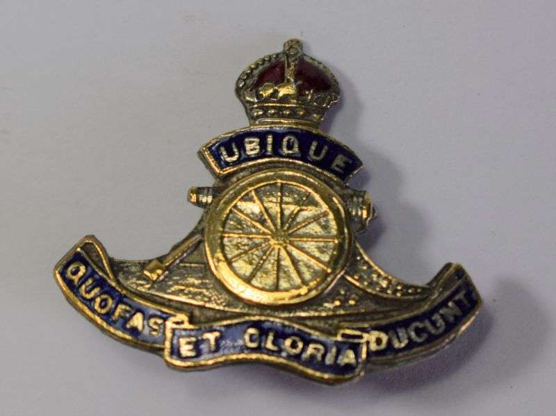 80) Nice Original WW1 WW2 Royal Artillery Sweetheart Brooch