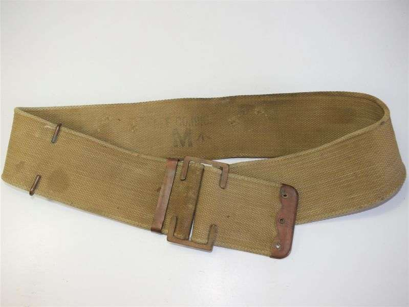 107) WW1 British 1908 Pattern Web Belt With Rear Buckles Removed