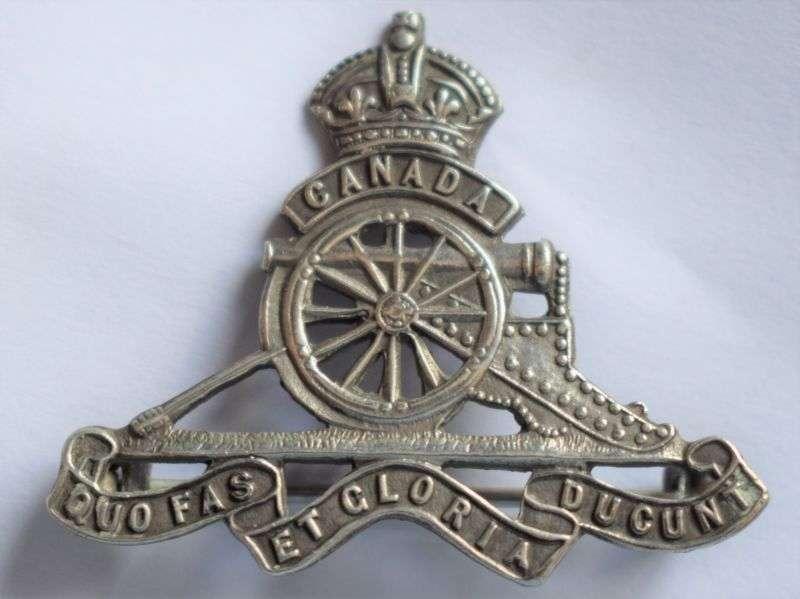 81) Nice Original WW1 WW2 Royal Canadian Artillery Sweetheart Brooch