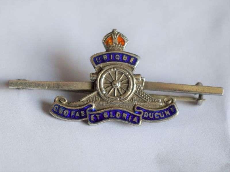 83) Nice Original WW1 WW2 Royal Artillery Sweetheart Brooch