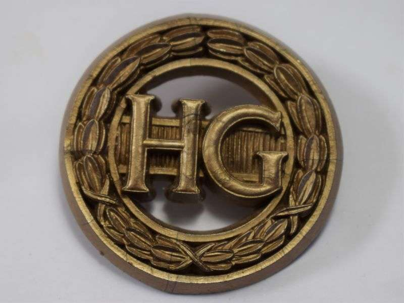 125) Excellent Original WW2 Woman's Home Guard Badge with ID