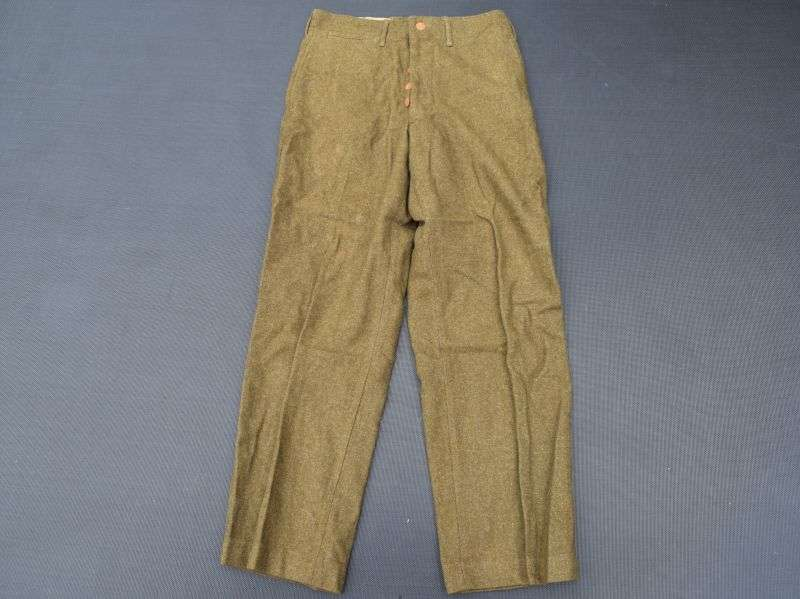 15) Unusual Pre WW2-US Army Issue Course Woollen Trousers