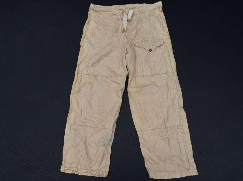 19) Excellent Original WW2 British Desert Drab Windproof Trousers 1942