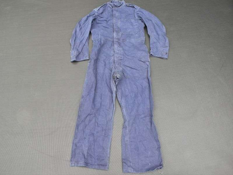 22) WW2 Pattern Civil Defence ARP Blue Overalls Dated 1951