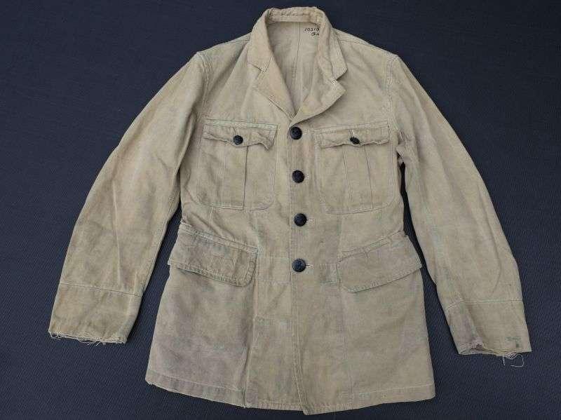 30) WW2 RAF Issue Khaki Drill Jacket With ID