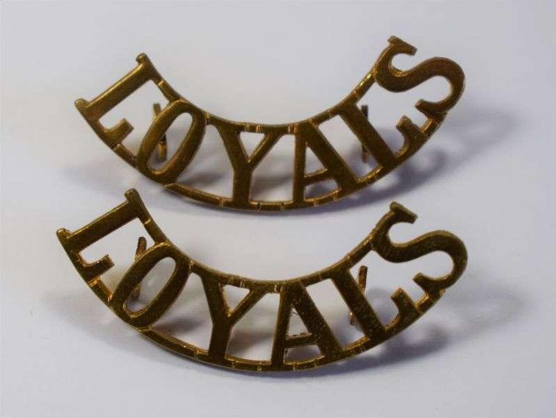 35) Original Loyal North Lancashire Regt Loyals Shoulder Titles