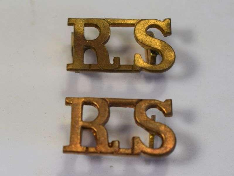 48) Original Royal Scots Shoulder Title Pair