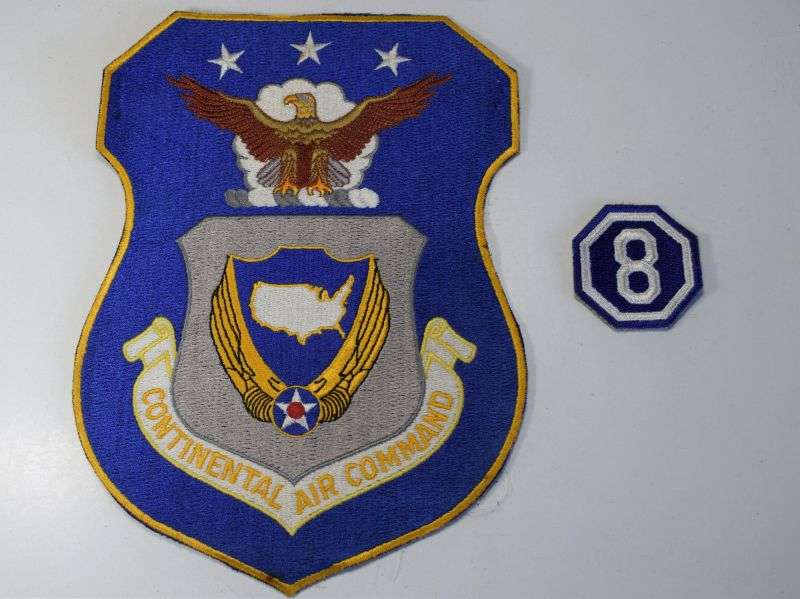 54) Huge Original Post WW2 USAF Continental Air Command Cloth Badge