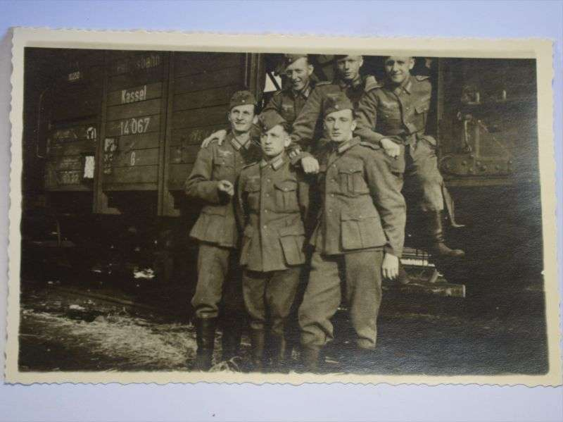 74) Original WW2 German Group Photo of Soldiers