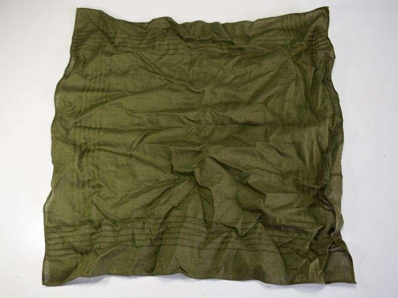 85) WW2 Era British Army Issue Green Hanky