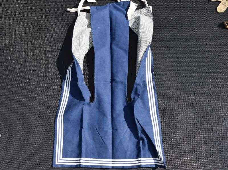 98) Mint Unissued WW2 Era Royal Navy Ratings Blue Jean Collar
