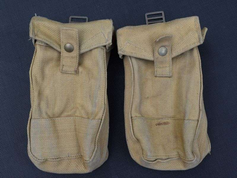 100) Matching Pair of Canadian Bren Ammo Pouches ZL&T Ltd 1943