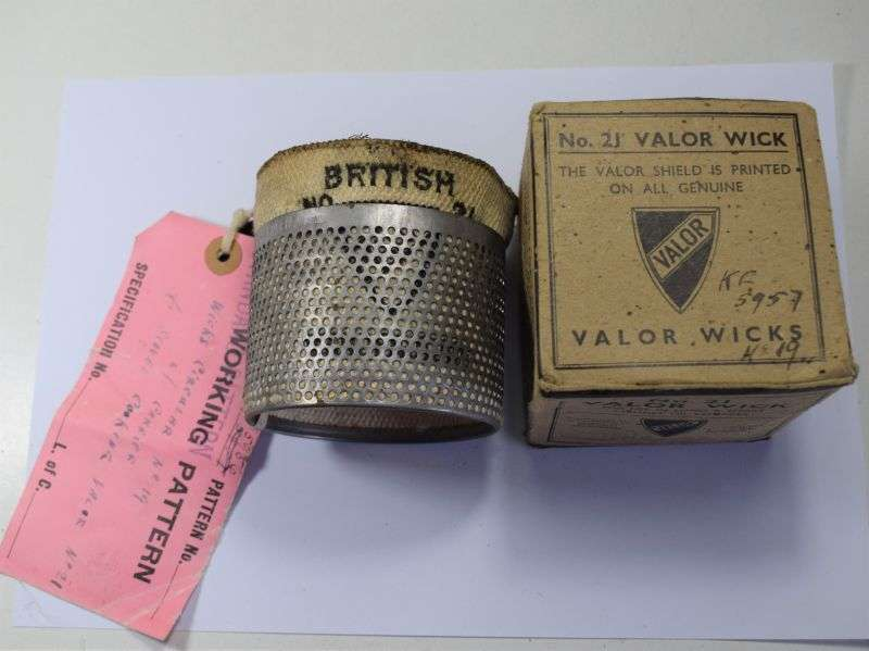 106) Sealed Pattern British Army WW2-1950s Cooking Stove No21 Wick