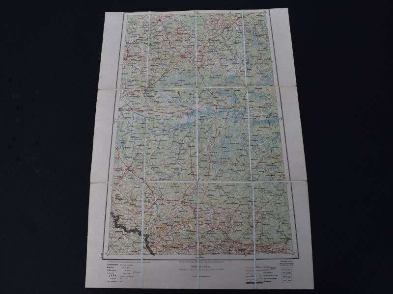 22) Original WW1 German Map of Pinsk Dated 1914