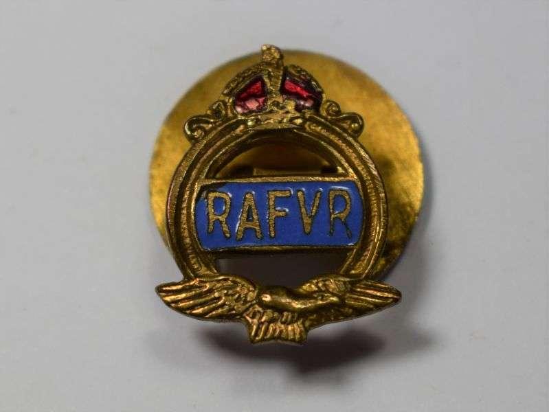 40) Good Original WW2 RAFVR Enamelled Lapel Badge