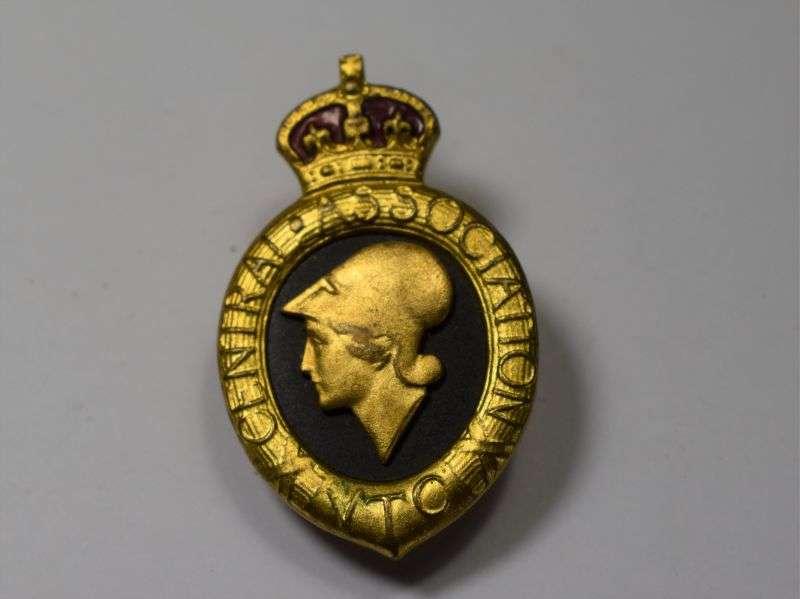 42) Excellent Original WW1 Volunteer Training Corps Lapel Badge