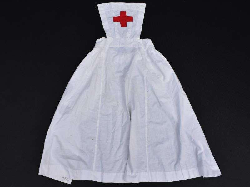46) Original WW2 British Red Cross VAD Nurses White Apron