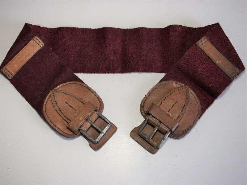 81) Original WW1 British Cavalry Horse Girth Belly Strap 1916