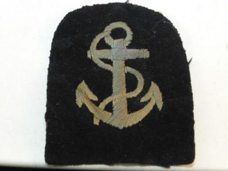 WW1 ? WRNS Leading Wren Rank Badge Blue Anchor