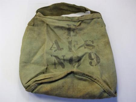 154) Early WW2 Axiliary Fire Service Canvas Water Bucket