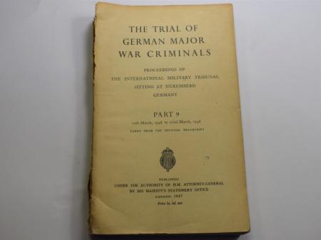 84) 1947 Dated HMSO Trial of German Major War Criminals Part 9.