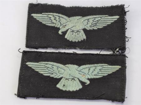 129) Original WW2 RAF Embroidered Albatross Sleeve Badge Pair