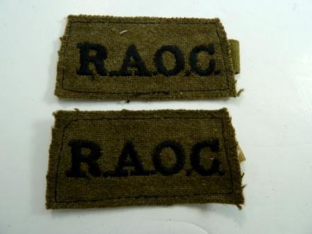 Original WW2 Royal Army Ordnance Corps Slip On Titles