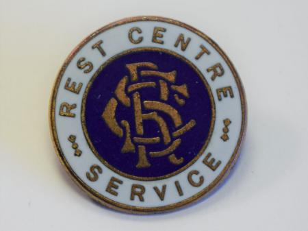 24) Original WW2 Rest Centre Service Enamel Pin Badge
