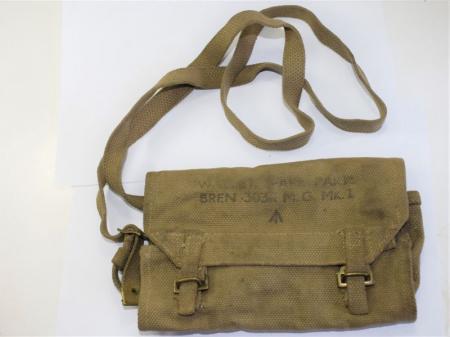 165) Original WW2 British Wallet Spare Parts Bren .303 MG MKI