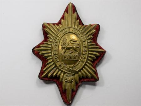 27) Original Early Post WW2 Worcestershire Regiment Valise Badge & Backing